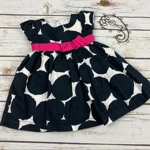 Carter's Girls Dress 6mo Black Polka Dot Lined